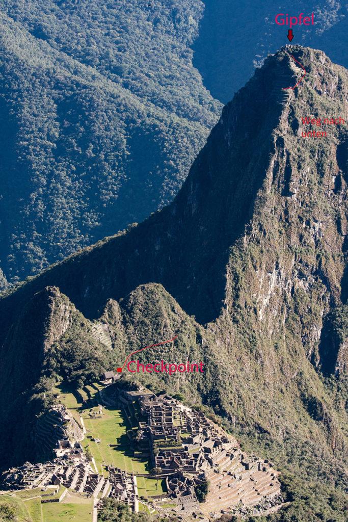 Beschreibung Weg zum Huayna Picchu