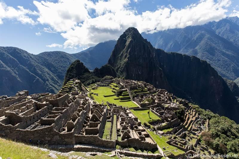 Machu Picchu und Huayna Picchu in Peru