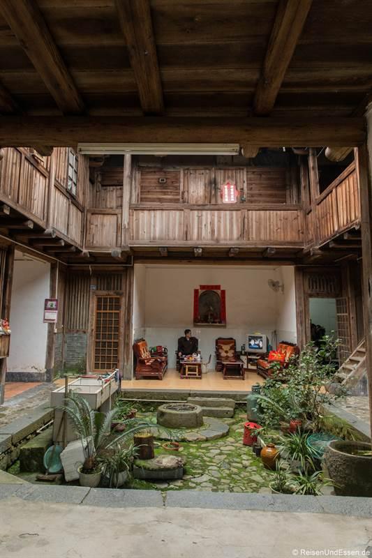 Innenhof bei einem Haus in Shunqinglou