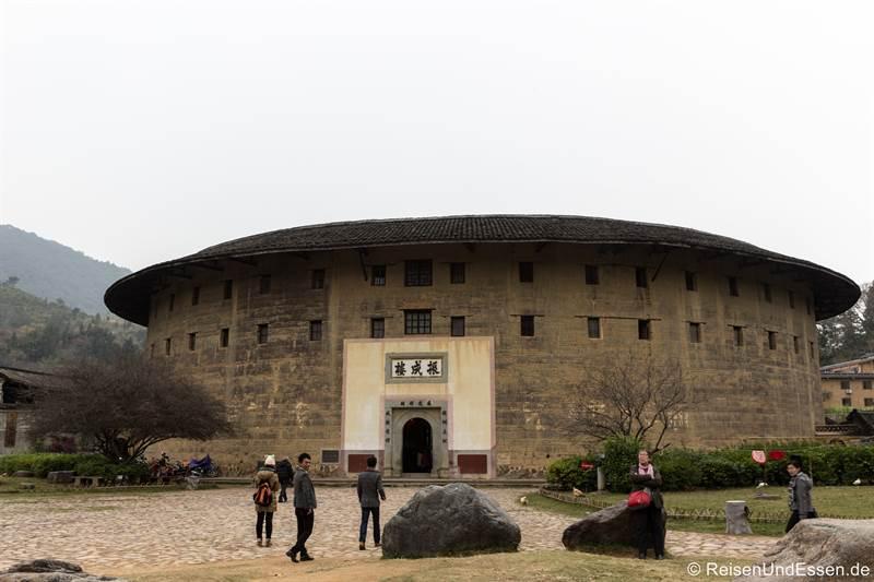 Rundhäuser der Hakka in Zhenchenglou in der Provinz Fujian