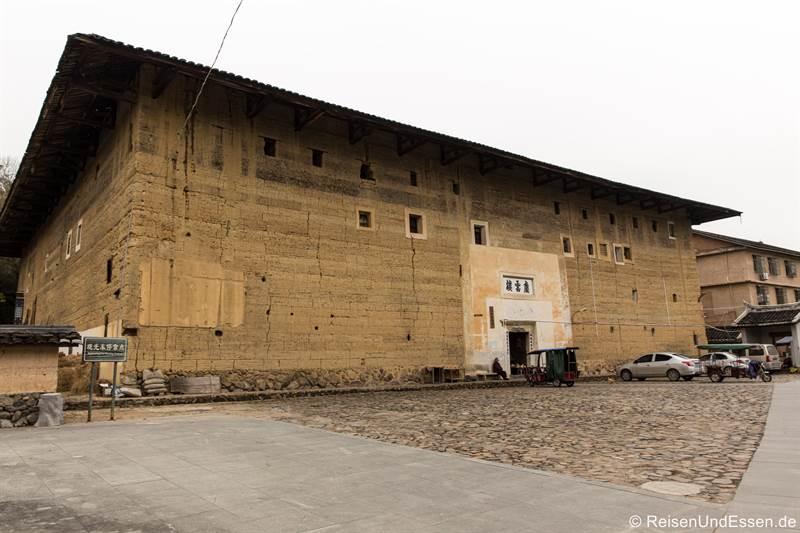 Rechteckiger Tulou in Zhenchenglou in der Provinz Fujian