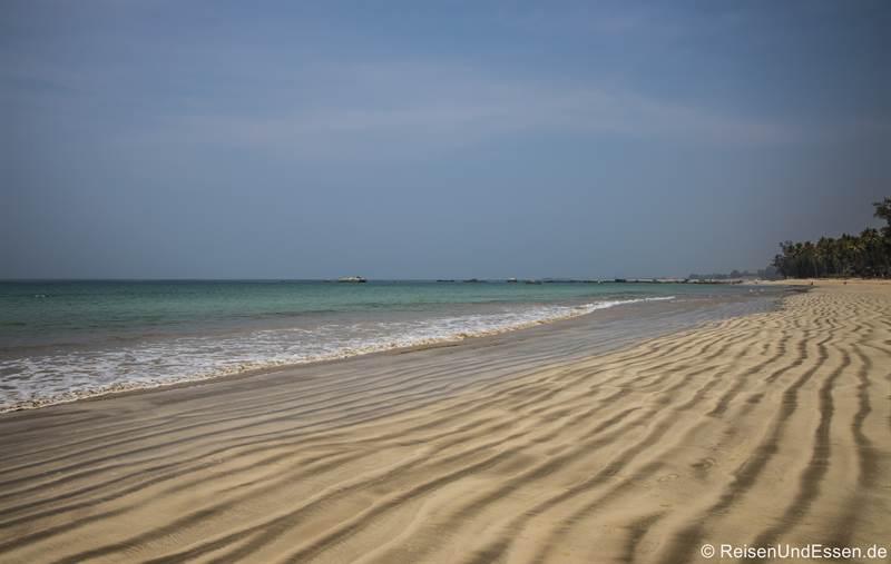 Strand in Ngapali in Myanmar