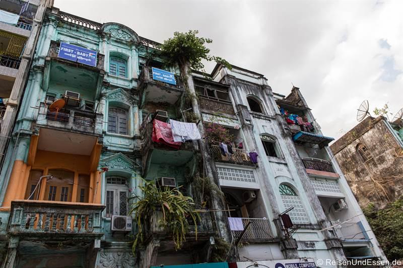 Häuser in Chinatown in Yangon
