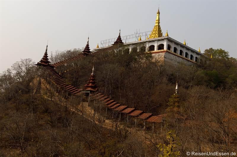 Aufgang zum Mandalay Hill - Sehenswürdigkeiten in Mandalay