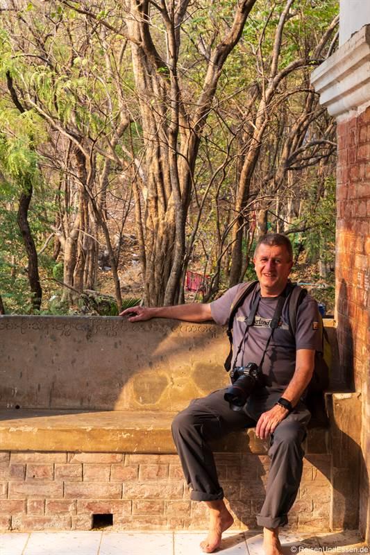 Pause auf dem Weg zum Mandalay Hill