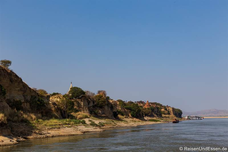 Ankunft in Bagan - Flusskreuzfahrt auf dem Irrawaddy