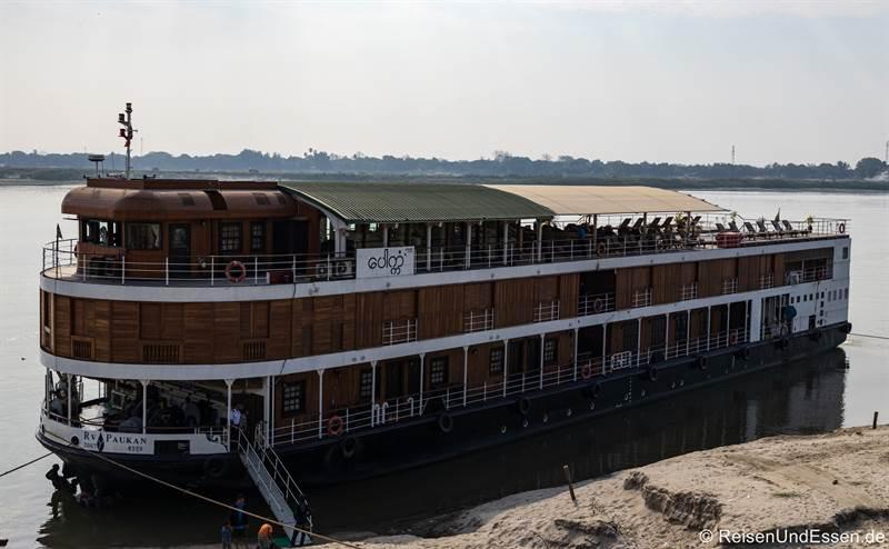 Einschiffung in Mandalay -Flusskreuzfahrt auf dem Irrawaddy