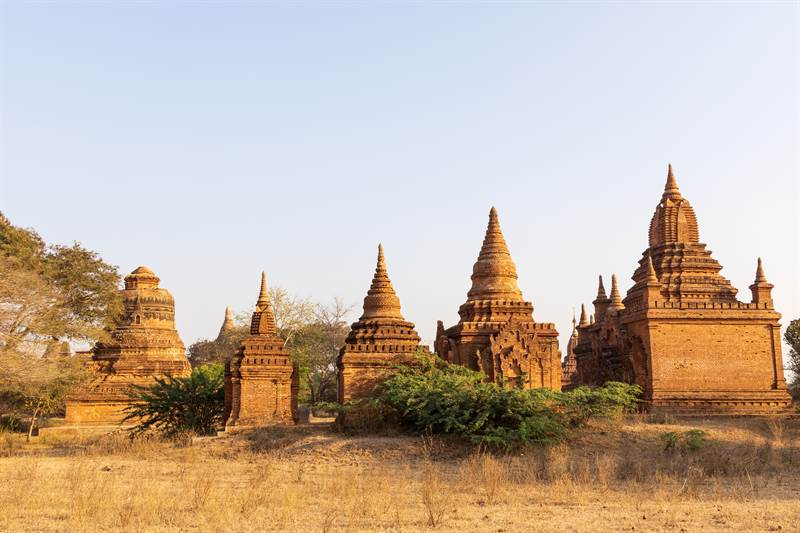 Pagoden in Old Bagan