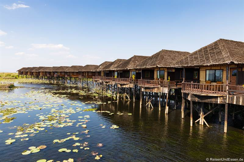 Bungalow im Golden Island Cottages Thale-U Hotel am Inle-See