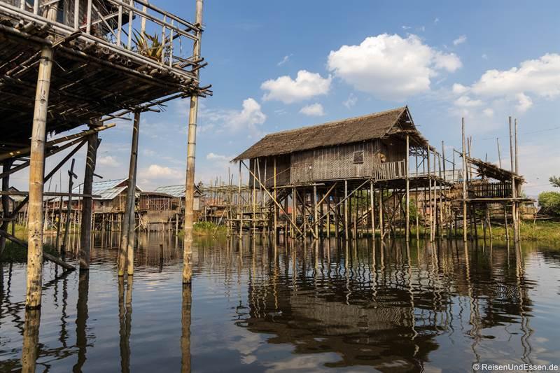 Haus auf Stelzen im Inle-See