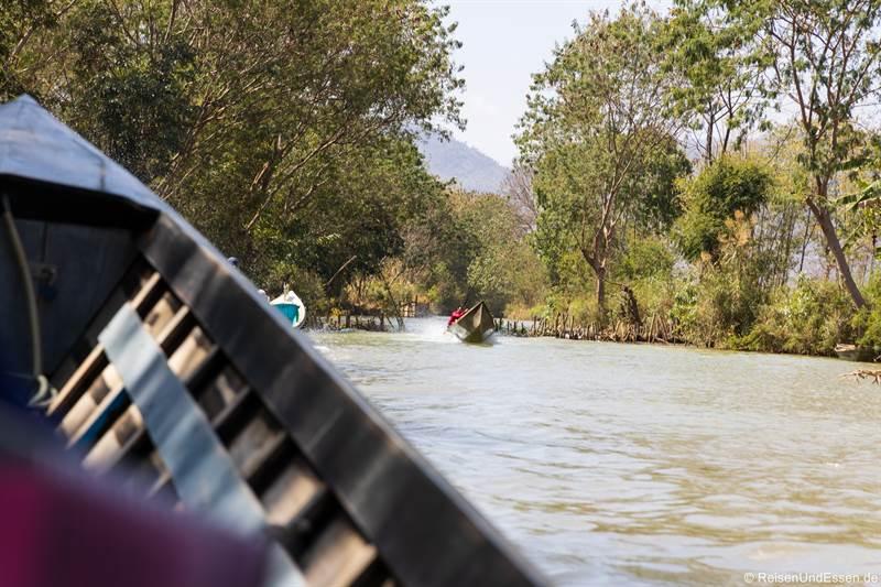 Staustufe bei der Fahrt vom Inle-See nach Indein