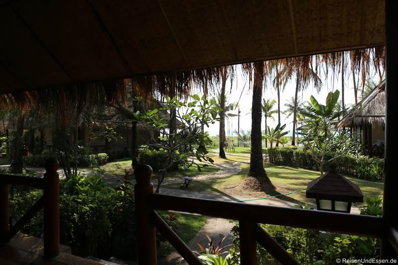 Aussicht vom Hotel Myanmar Treasure Resort in Ngwe Saung