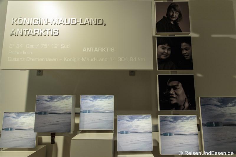 Königin-Maud-Land in der Antarktis - Klimahaus Bremerhaven