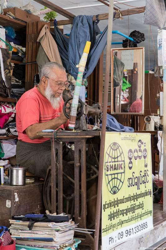 Näher im Bogyoke Aung San Markt in Yangon