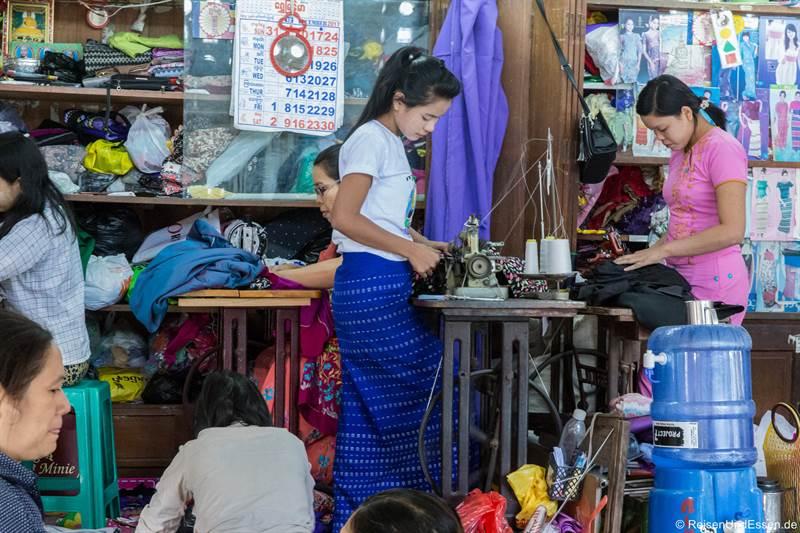 Näherinnen im Bogyoke Aung San Markt in Yangon