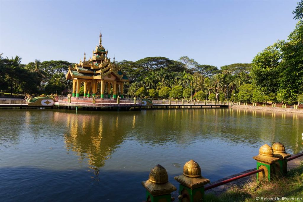 Shin Upagutta im Theingottara Park in Yangon