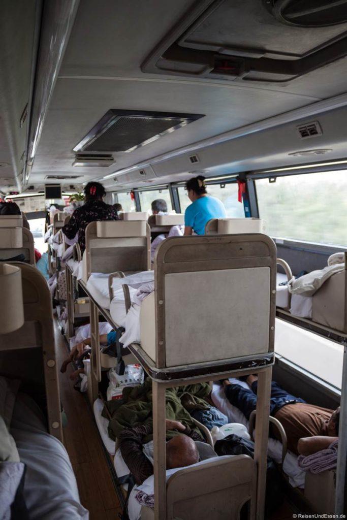 Betten im Liegebus in China