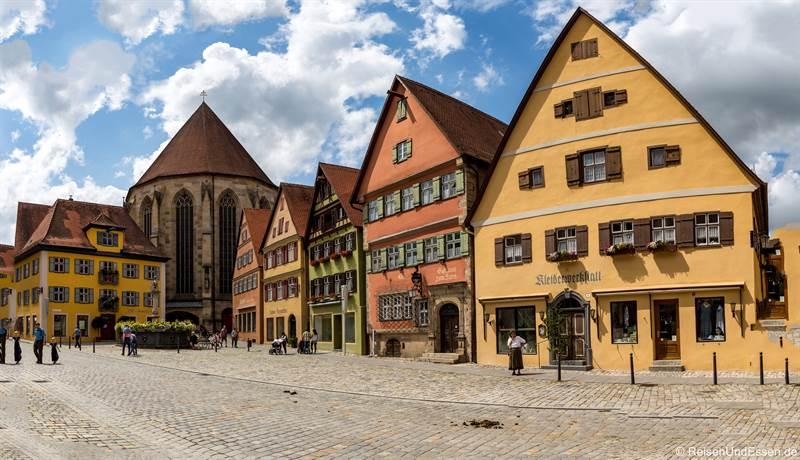 Häuser in der Altstadt von Dinkelsbühl