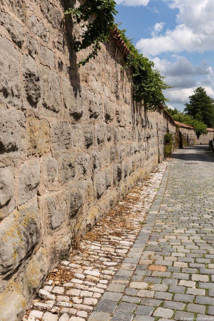 Stadtmauer in Dinkelsbühl an der romantischen Straße