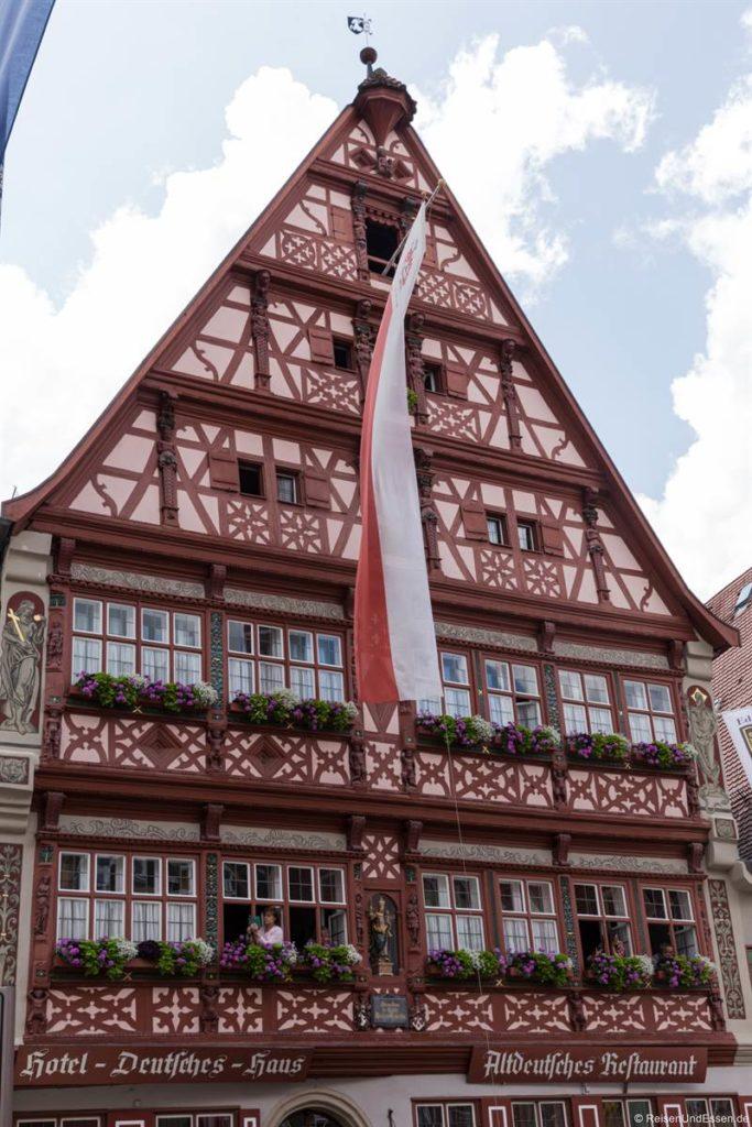 Fachwerkhaus am Weinmarkt in der Altstadt von Dinkelsbühl
