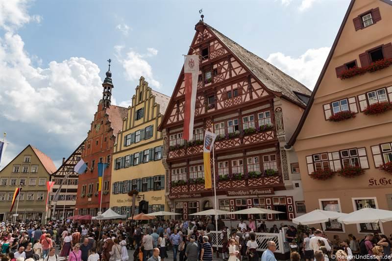 Weinmarkt in der Altstadt - Sehenswürdigkeiten in Dinkelsbühl