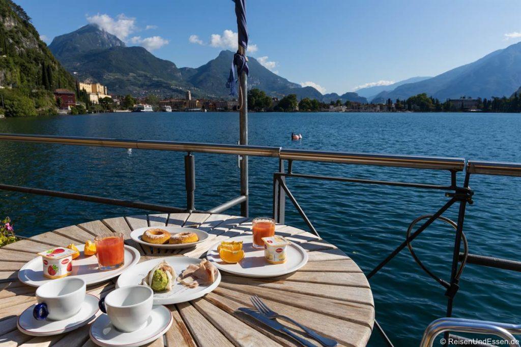 Frühstück im Apartement Excelsior in Riva del Garda