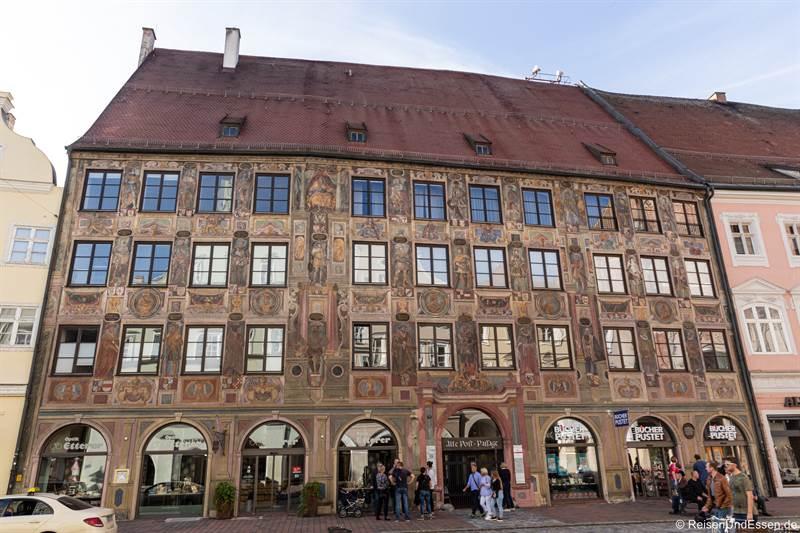 Ehemalige Alte Post in der Altstadt von Landshut