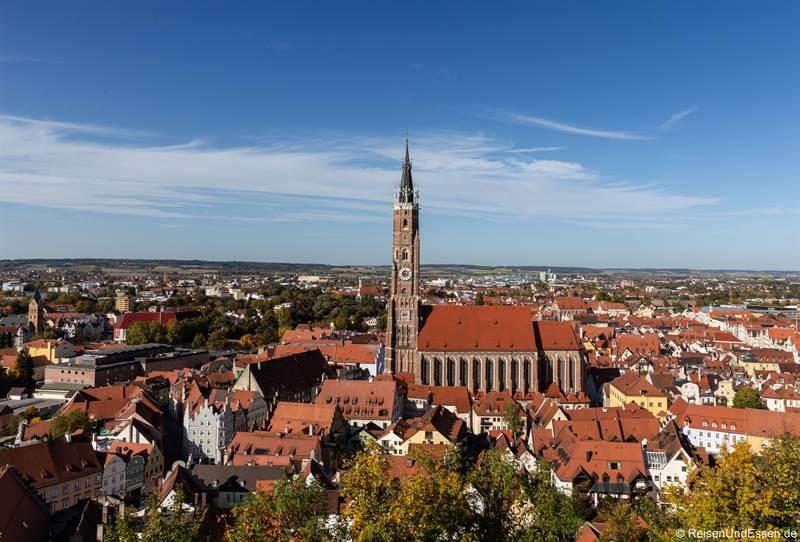 Blick auf Landshut von der Burg Trausnitz