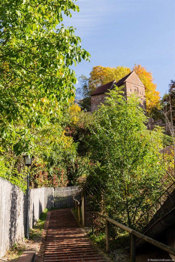 Fürstentreppe zur Burg Trausnitz in Landshut