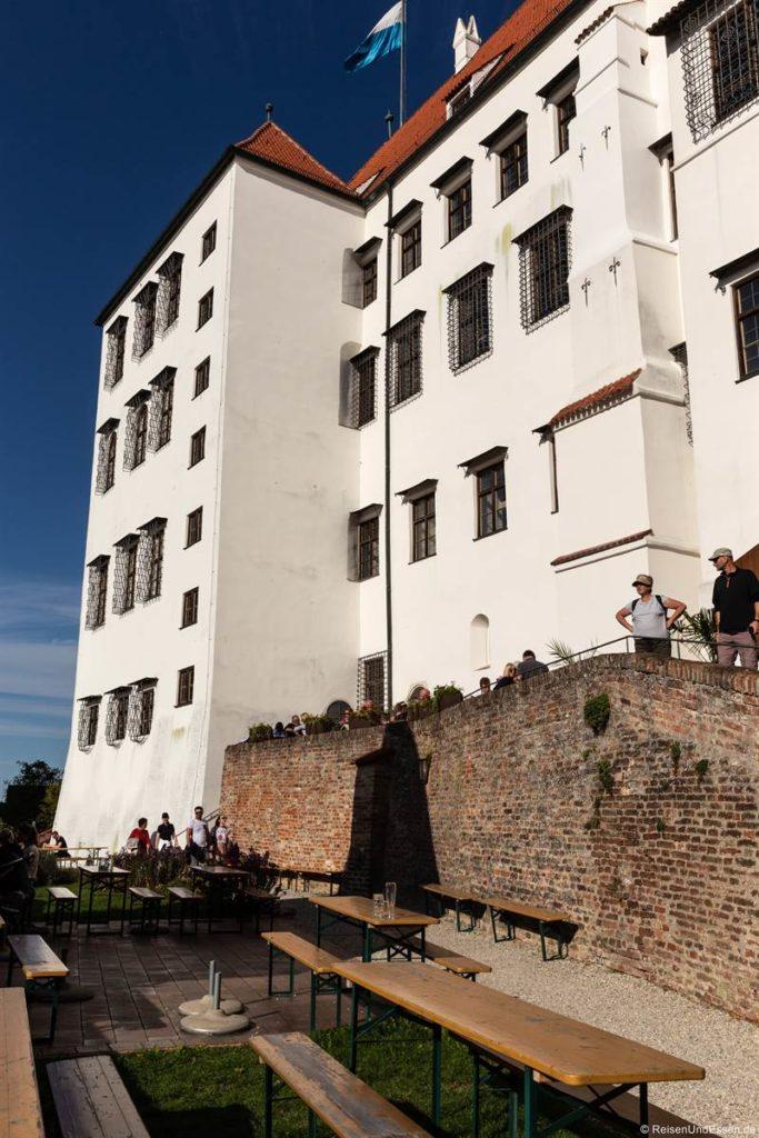 Biergarten auf der Burg Trausnitz