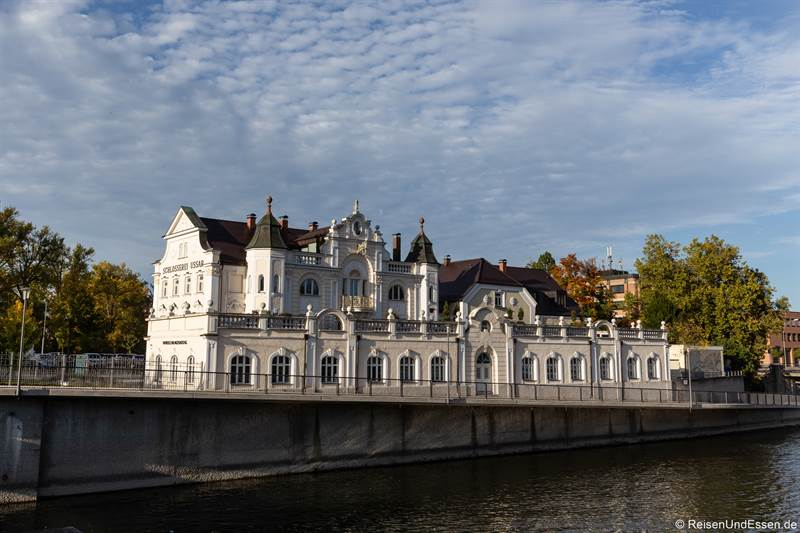 Gebäude an der Isargestade in Landshut