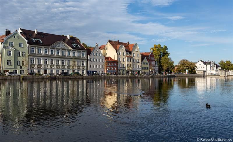 Häuser an der Isargestade in Landshut