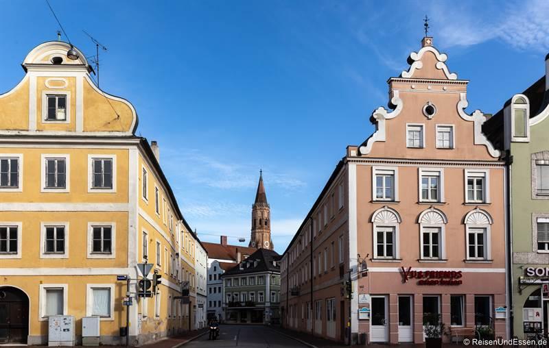 Blick in die Regierungsstrasse in Landshut