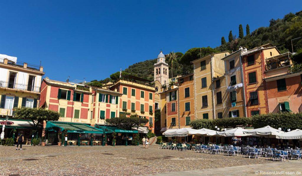 Piazza in Portofino in Ligurien