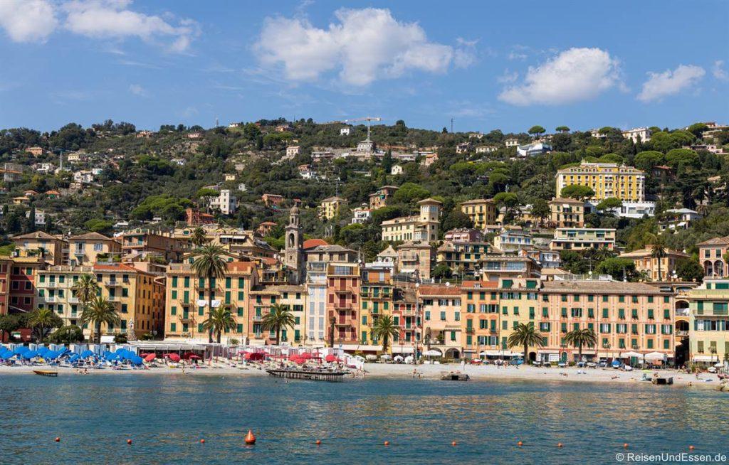 Blick vom Schiff auf Santa Margherita Ligure