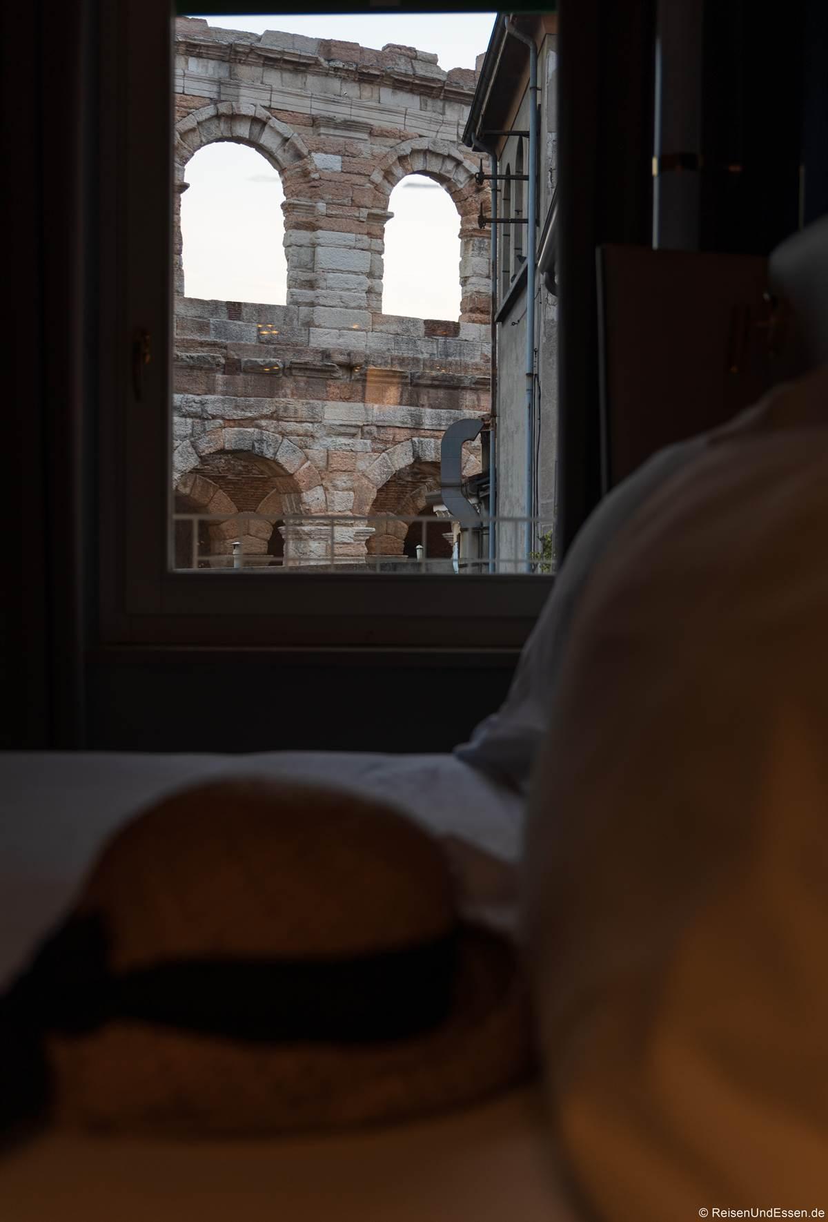 Zimmer mit Aussicht im Hotel Milano in Verona