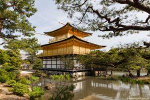 Goldener Pavillon in Kyoto in Japan