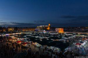 Djemaa el Fna in Marrakesch in Marokko