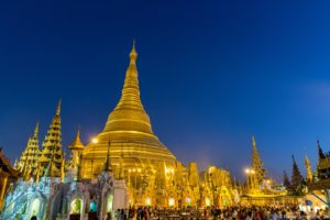 Shwedagon Pagode in Yangon in Myanmar