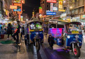 Chinatown in Bangkok in Thailand