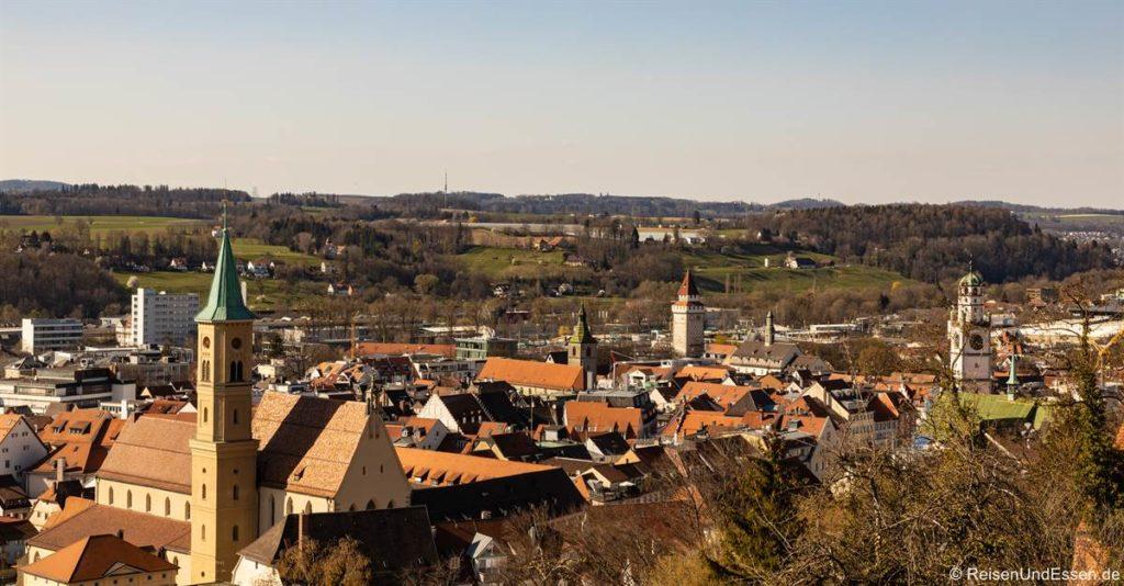 Aussicht auf Ravensburg von der Veitsburg