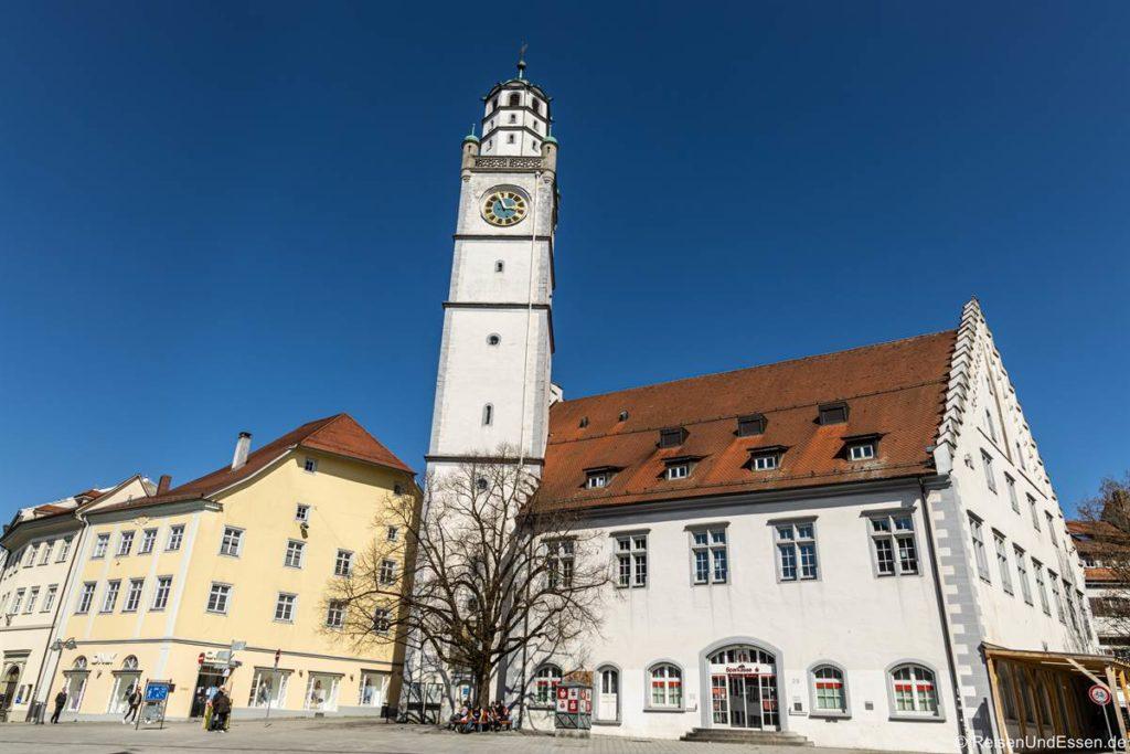 Marienplatz und Blaserturm in Ravensburg