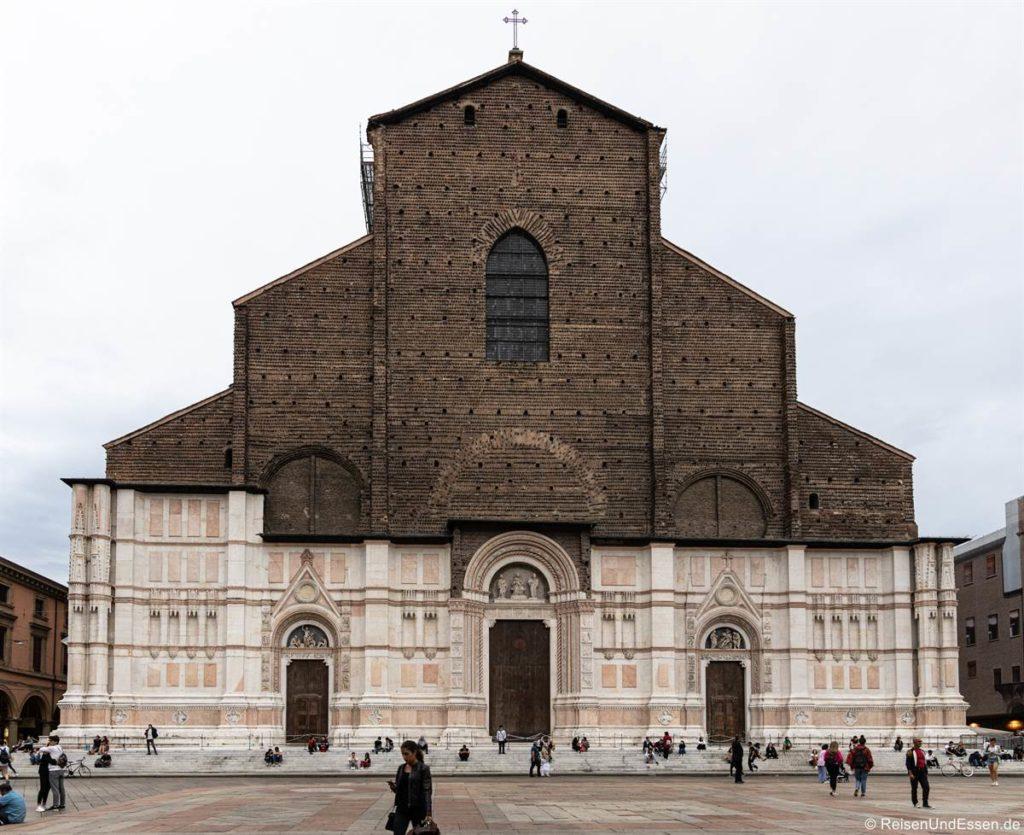 Basilica San Petronio am Piazzo Maggiore in Bologna