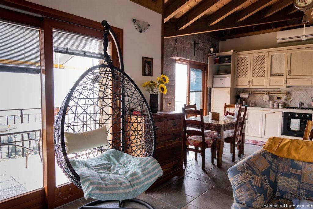 Wohnbereich in der Ferienwohnung in Maccagno