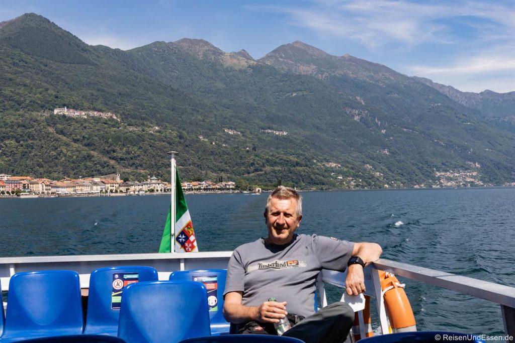 Auf dem Schiff bei Cannobio auf dem Lago Maggiore