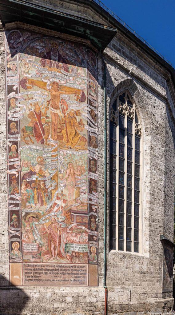 Gemälde an der Fasse der Kirche St. Konrad