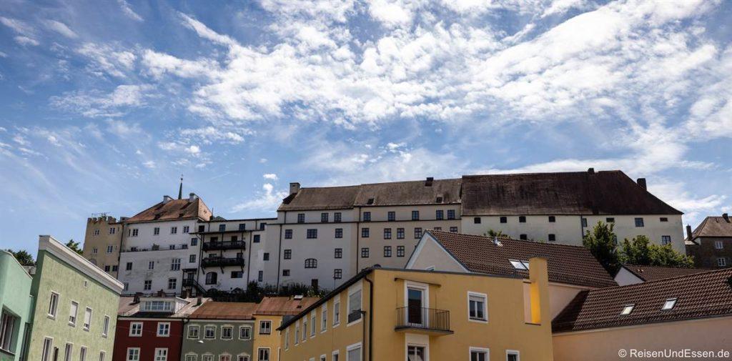 Burganlage und Schloss in Wasserburg am Inn