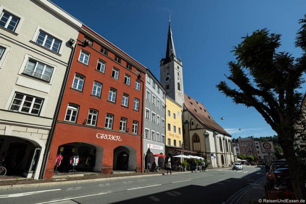 Häuser am Marienplatz in Wasserburg