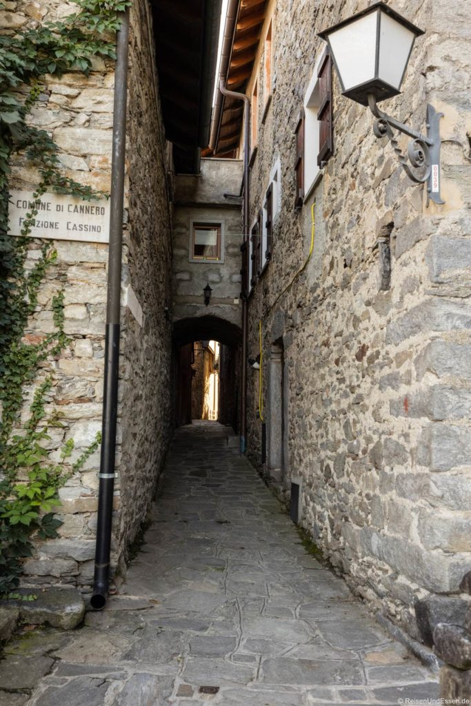 Gasse in Cassino in Cannero